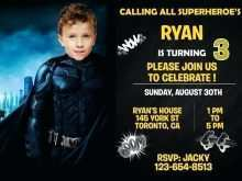 36 Customize Justice League Birthday Invitation Template For Free for Justice League Birthday Invitation Template