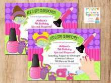 36 Customize Our Free Spa Party Invitation Template For Free for Spa Party Invitation Template