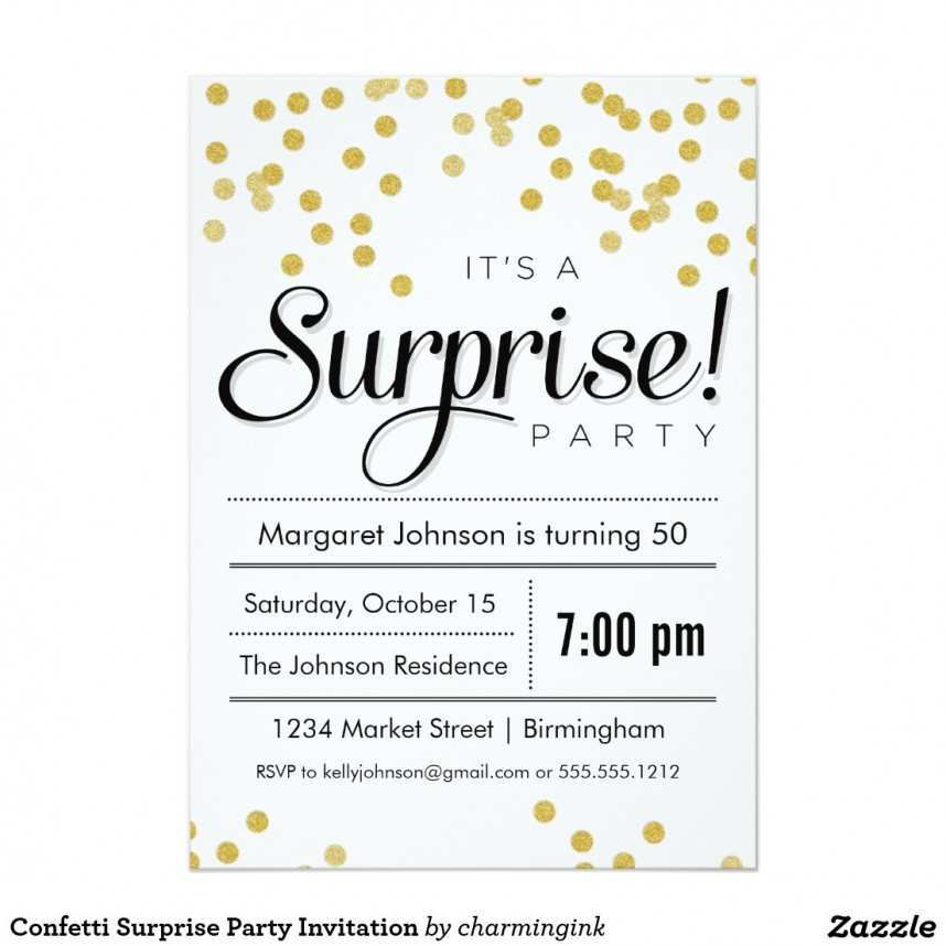 36 Free Printable Surprise Birthday Invitation Template For Ms