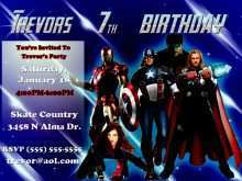 36 How To Create Avengers Party Invitation Template With Stunning Design for Avengers Party Invitation Template
