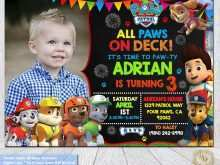 36 Online Paw Patrol Birthday Invitation Template Free With Stunning Design with Paw Patrol Birthday Invitation Template Free