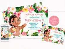 36 Printable Baby Moana Birthday Invitation Template Templates by Baby Moana Birthday Invitation Template