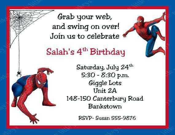 36 Report Birthday Invitation Template Spiderman With Stunning Design with Birthday Invitation Template Spiderman