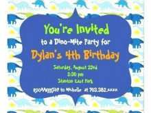 Blank Dinosaur Invitation Template