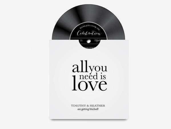 36 Standard Vinyl Record Wedding Invitation Template in Photoshop for Vinyl Record Wedding Invitation Template