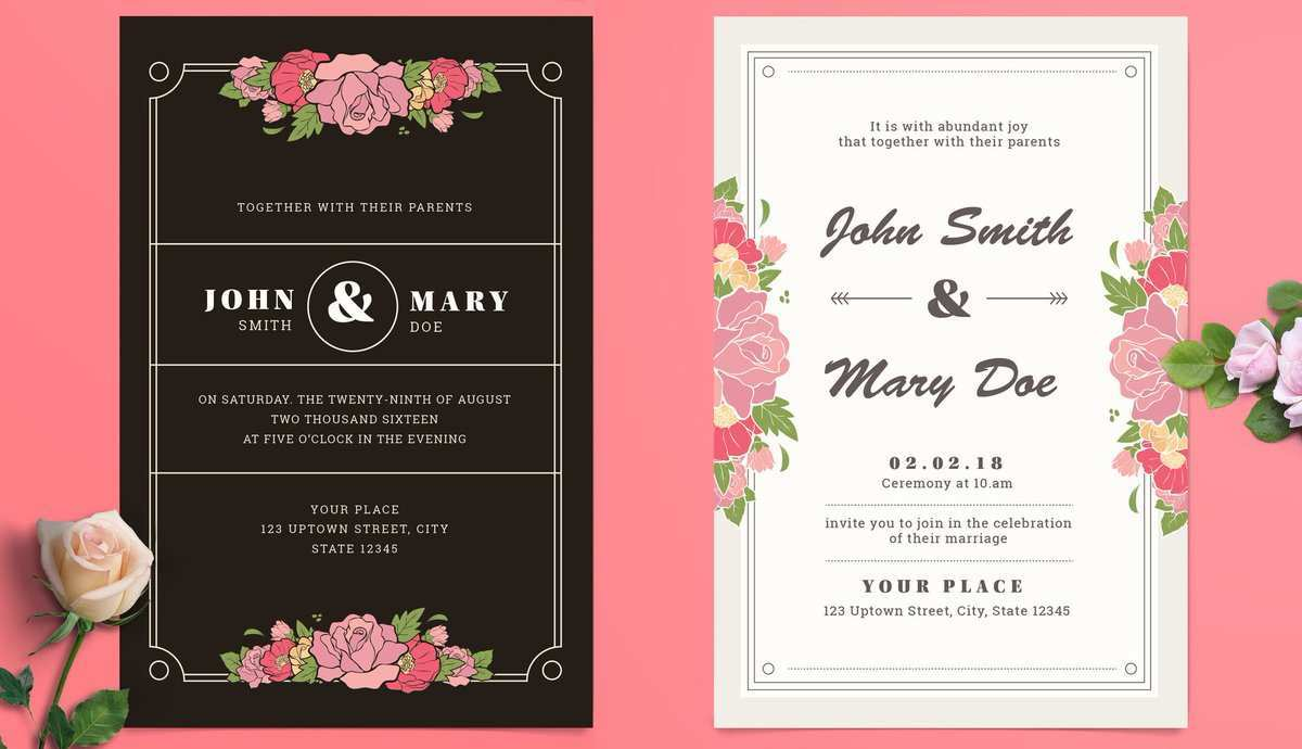 5 The Best Adobe Illustrator Wedding Invitation Template Free