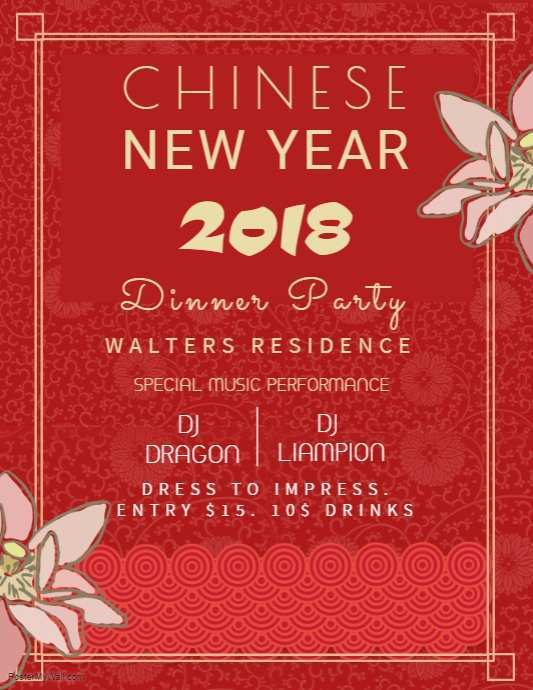 37 Best Chinese New Year Party Invitation Template for Ms Word with Chinese New Year Party Invitation Template