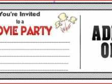 37 Best Party Invitation Movie Template Now for Party Invitation Movie Template