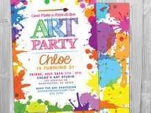 Art Party Invitation Template