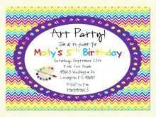 37 Blank Art Party Invitation Template Maker for Art Party Invitation Template