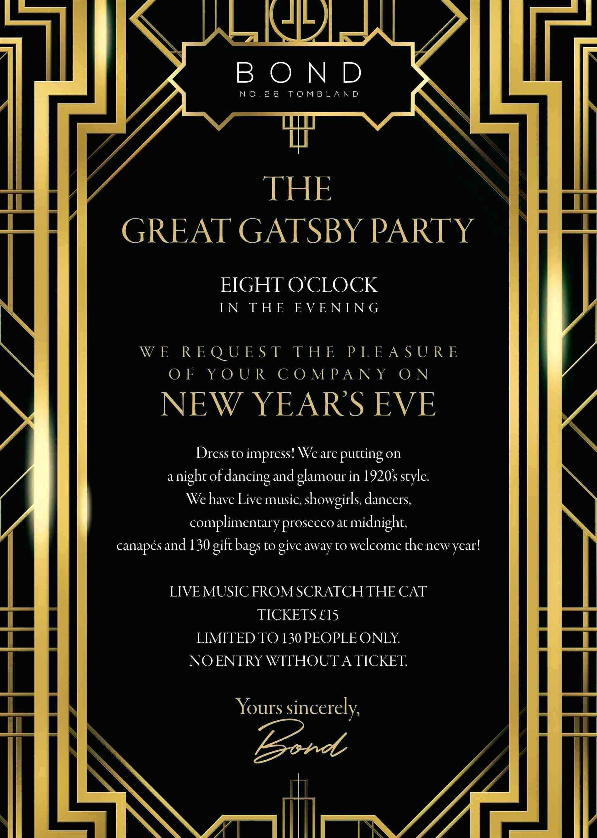 37 Blank Great Gatsby Party Invitation Template Free Now for Great Gatsby Party Invitation Template Free