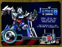 Transformers Birthday Invitation Template