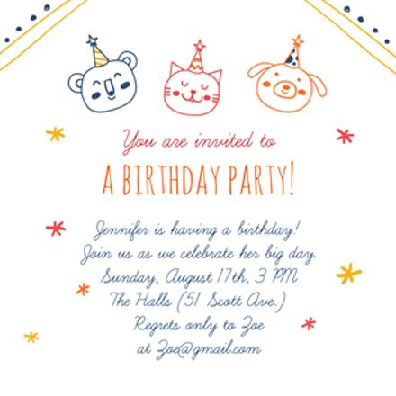 37 Create Birthday Invitation Template Animals in Photoshop for Birthday Invitation Template Animals