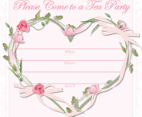 37 Creating Afternoon Tea Party Invitation Template Photo with Afternoon Tea Party Invitation Template