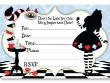 37 Creative Blank Alice In Wonderland Invitation Template Layouts for Blank Alice In Wonderland Invitation Template