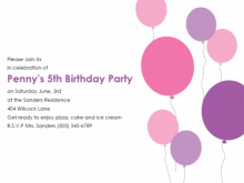 Kiddie Birthday Invitation Template