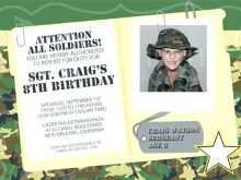 37 Customize Our Free Army Birthday Invitation Template With Stunning Design with Army Birthday Invitation Template