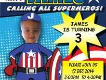 37 Customize Our Free Captain America Birthday Invitation Template Photo for Captain America Birthday Invitation Template