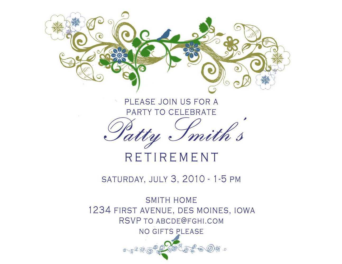 5 How To Create Retirement Party Invitation Template Ms Word