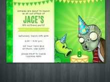 37 Online Plants Vs Zombies Birthday Invitation Template Download by Plants Vs Zombies Birthday Invitation Template