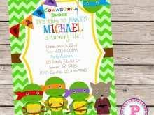 37 Report Ninja Turtle Birthday Invitation Template With Stunning Design by Ninja Turtle Birthday Invitation Template