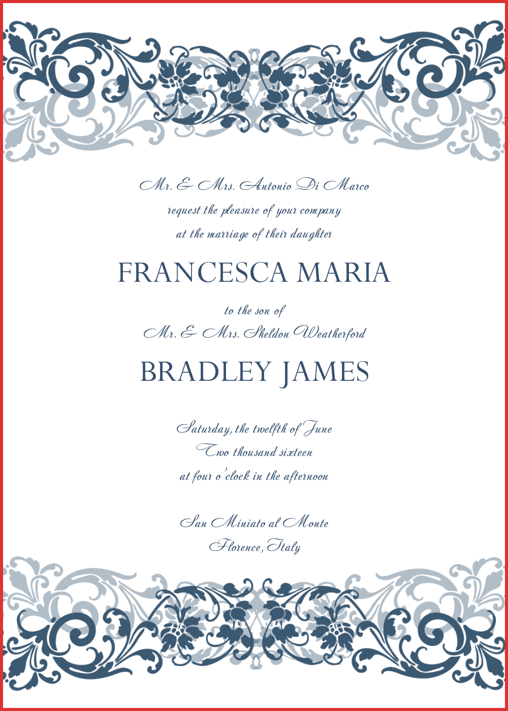37 Standard Wedding Invitation Template Doc Download by Wedding Invitation Template Doc
