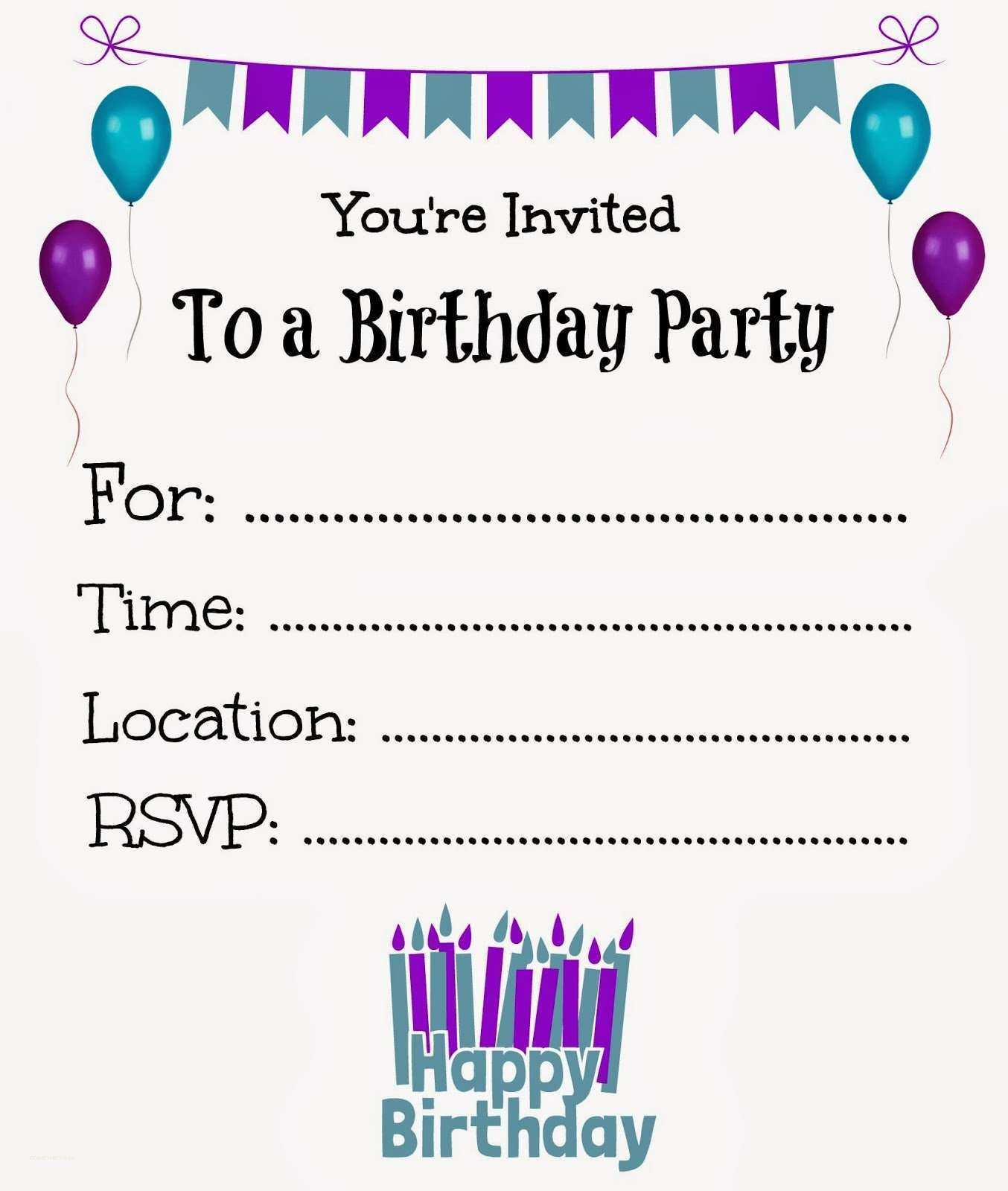 37 The Best Birthday Invitation Template Free Formating with Birthday Invitation Template Free