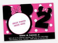 37 The Best Minnie Mouse Birthday Invitation Template in Photoshop by Minnie Mouse Birthday Invitation Template