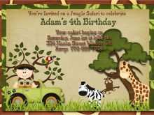 37 The Best Safari Birthday Invitation Template Free Maker by Safari Birthday Invitation Template Free