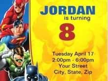 38 Best Justice League Birthday Invitation Template for Ms Word for Justice League Birthday Invitation Template