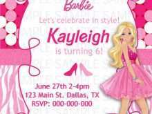 38 Create Birthday Invitation Barbie Template Now with Birthday Invitation Barbie Template