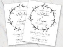 38 Creating Black And White Wedding Invitation Template for Ms Word by Black And White Wedding Invitation Template
