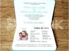 38 Creating Free Passport Wedding Invitation Template Formating with Free Passport Wedding Invitation Template