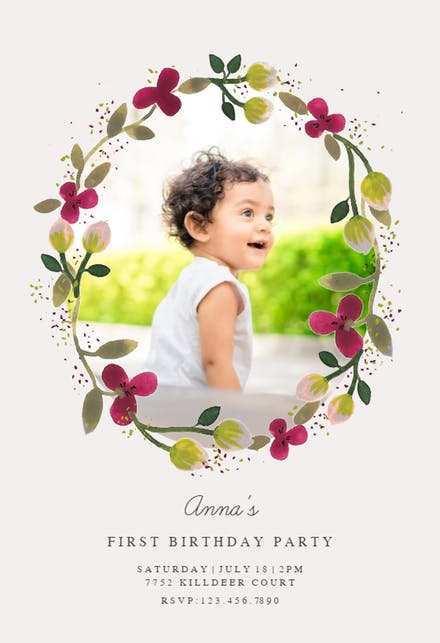 38 Customize 1St Birthday Invitation Template Blank Formating with 1St Birthday Invitation Template Blank