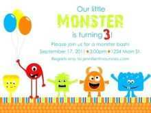 38 Customize Our Free Monster Birthday Invitation Template Download by Monster Birthday Invitation Template