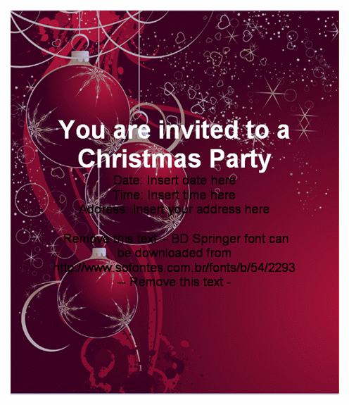 38 Format Elegant Christmas Party Invitation Template Free Download With Stunning Design by Elegant Christmas Party Invitation Template Free Download