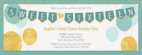 38 Free Blank Sweet 16 Invitation Templates Formating with Blank Sweet 16 Invitation Templates