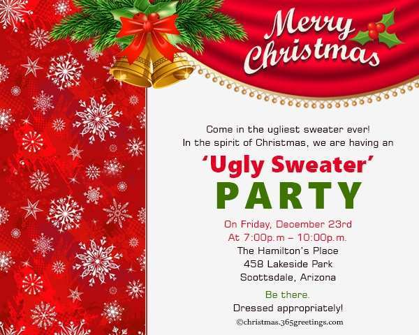 38 How To Create Christmas Party Invitation Template Now with Christmas Party Invitation Template