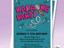 38 Report Karaoke Party Invitation Template Templates by Karaoke Party Invitation Template