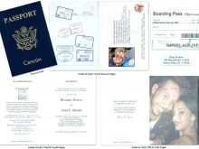 Free Passport Wedding Invitation Template