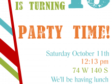 38 Standard Kid Party Invitation Template Download by Kid Party Invitation Template