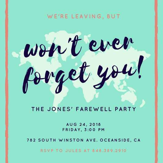 38 The Best Farewell Party Invitation Template in Word by Farewell Party Invitation Template