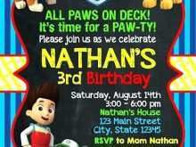 38 The Best Paw Patrol Birthday Invitation Template Free Now for Paw Patrol Birthday Invitation Template Free