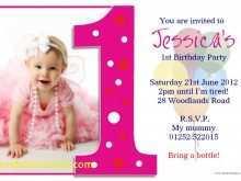 39 Create Birthday Invitation Template For Baby Girl Layouts with Birthday Invitation Template For Baby Girl