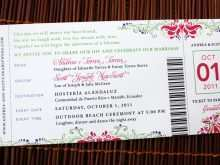 39 Create Ticket Wedding Invitation Template Free With Stunning Design by Ticket Wedding Invitation Template Free