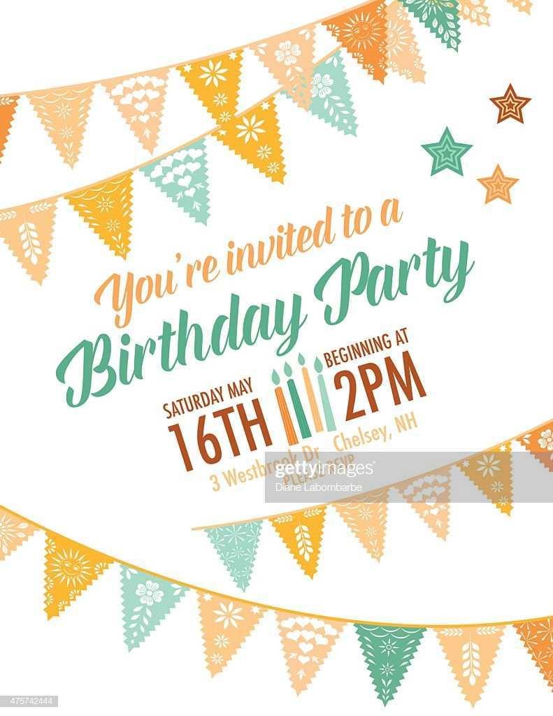 39 Format Birthday Invitation Template Vector for Ms Word with Birthday Invitation Template Vector
