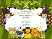 39 Format Jungle Party Invitation Template Templates for Jungle Party Invitation Template