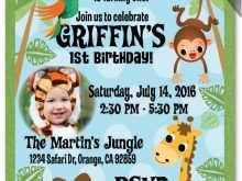 39 Free Printable Jungle Party Invitation Template Download with Jungle Party Invitation Template