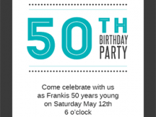 39 How To Create 50Th Birthday Invite Templates Uk Maker for 50Th Birthday Invite Templates Uk