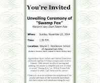 39 Printable Example Of Unveiling Invitation Card in Word for Example Of Unveiling Invitation Card